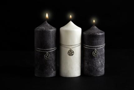 Mystic Barbara Kočková spirituální svíčka (válce)